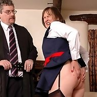 Housewife Allison gets a school discipline session