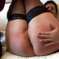 Curvy brunette spanked and paddled to tears on her big round ass