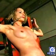 Alexa undergoes terrible torture at the hands of her captor and his whip