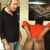 Nubian honey gets her dark skin marked and lashed by the cane