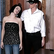 Prison guard uses her dialrod  brunette prison girl