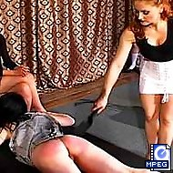 Mistress Gemini spanks these sluts until they cooperate