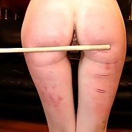 Slutty Cheerleaders get their asses paddled by the punishment officer
