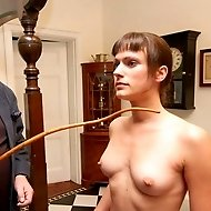 Leia-Ann Woods lashed nude, using a unique implement: a bull`s pizzle!